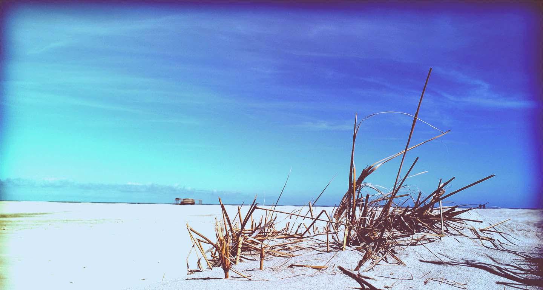 Strand zeeland tijdens yogaweekend